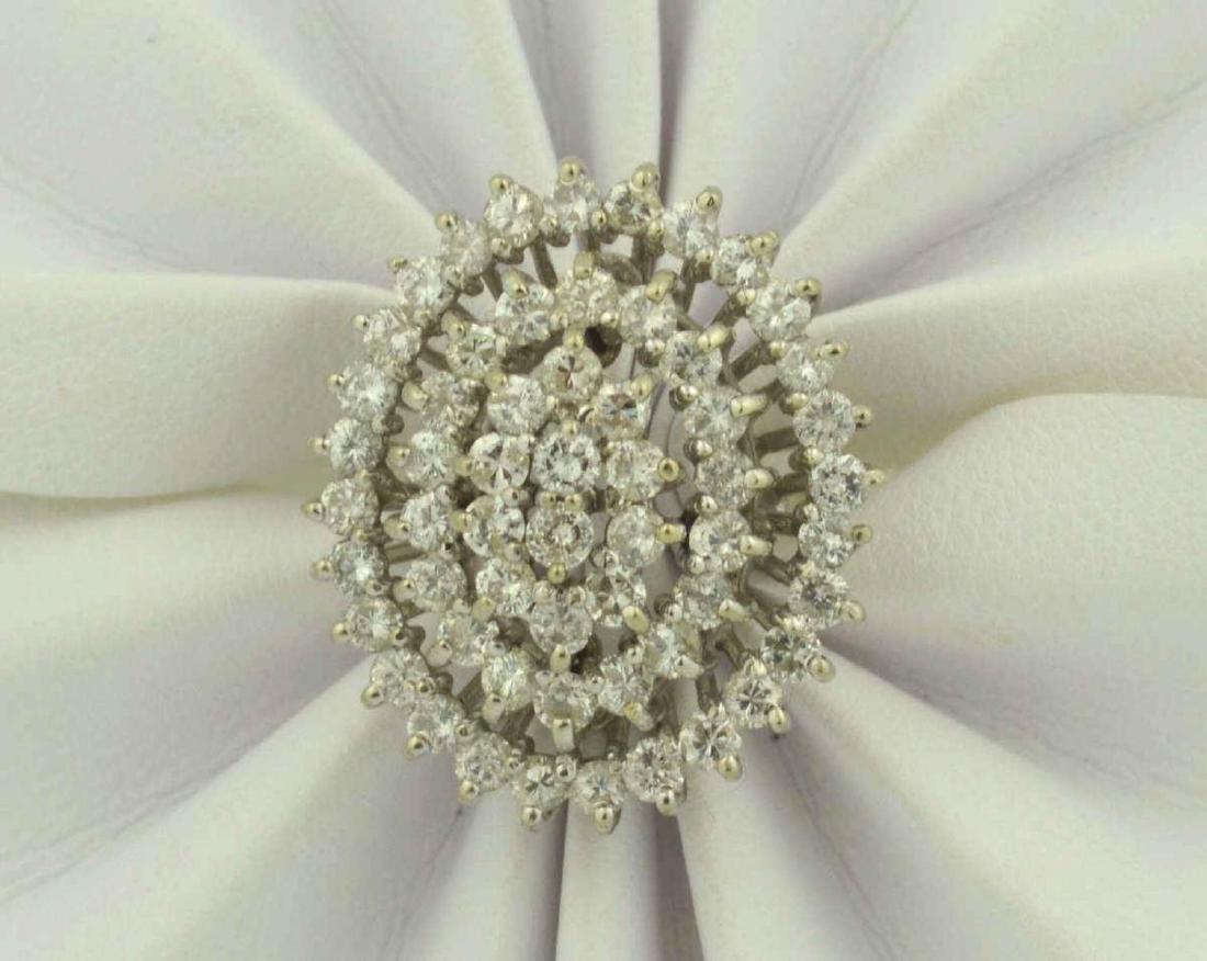 14kt white gold diamond cocktail ring - 6