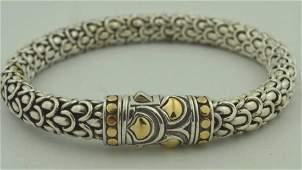 John Hardy Sterling Silver and 18kt bracelet