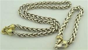 David Yurman Wheat Chain necklace and bracelet