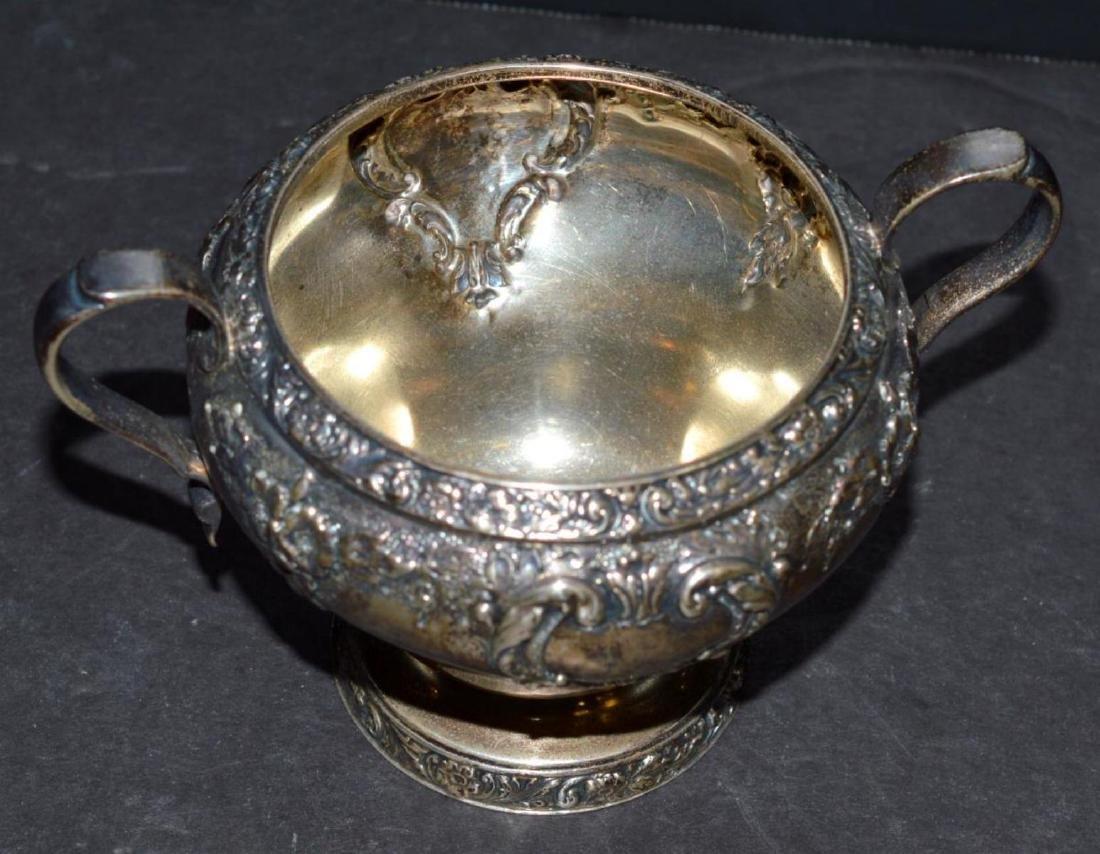 Watson Meadow Rose 4 pc. Sterling Silver Tea Set - 10