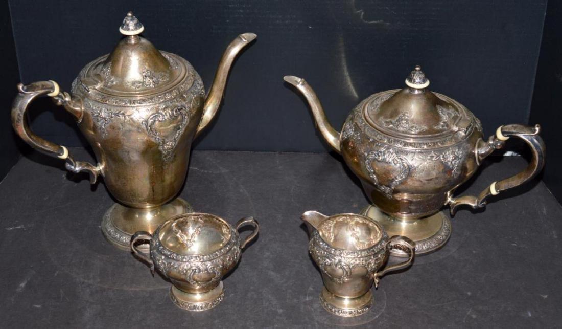Watson Meadow Rose 4 pc. Sterling Silver Tea Set