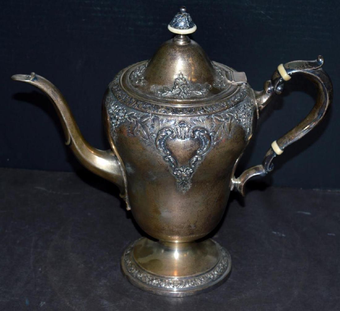 Watson Meadow Rose 4 pc. Sterling Silver Tea Set - 2