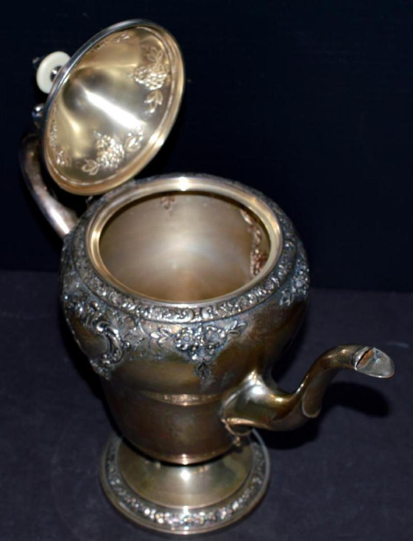 Watson Meadow Rose 4 pc. Sterling Silver Tea Set - 3