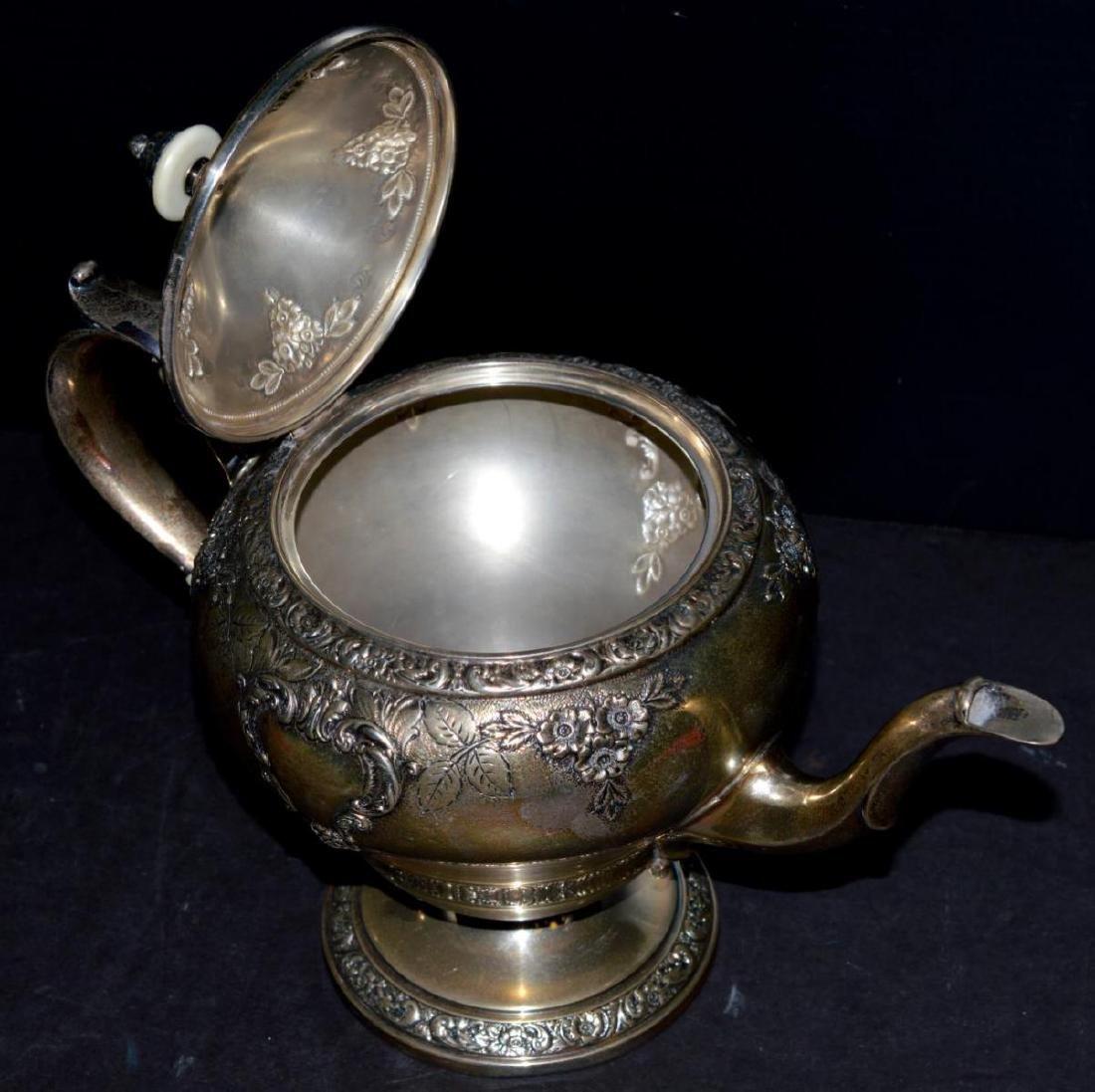 Watson Meadow Rose 4 pc. Sterling Silver Tea Set - 6