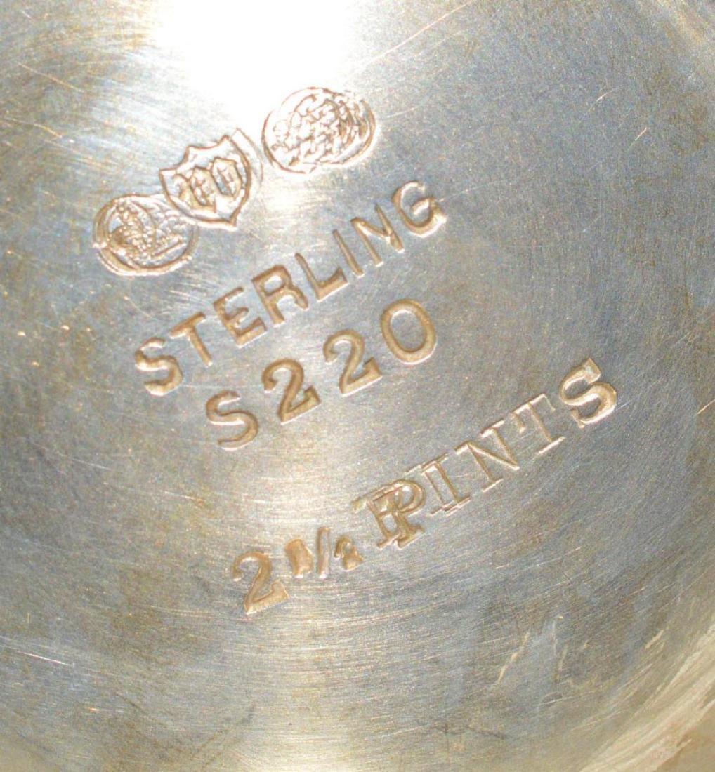 Watson Meadow Rose 4 pc. Sterling Silver Tea Set - 7