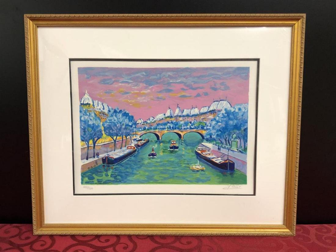 Framed Signed Numbered Print Jean-Claude Picot