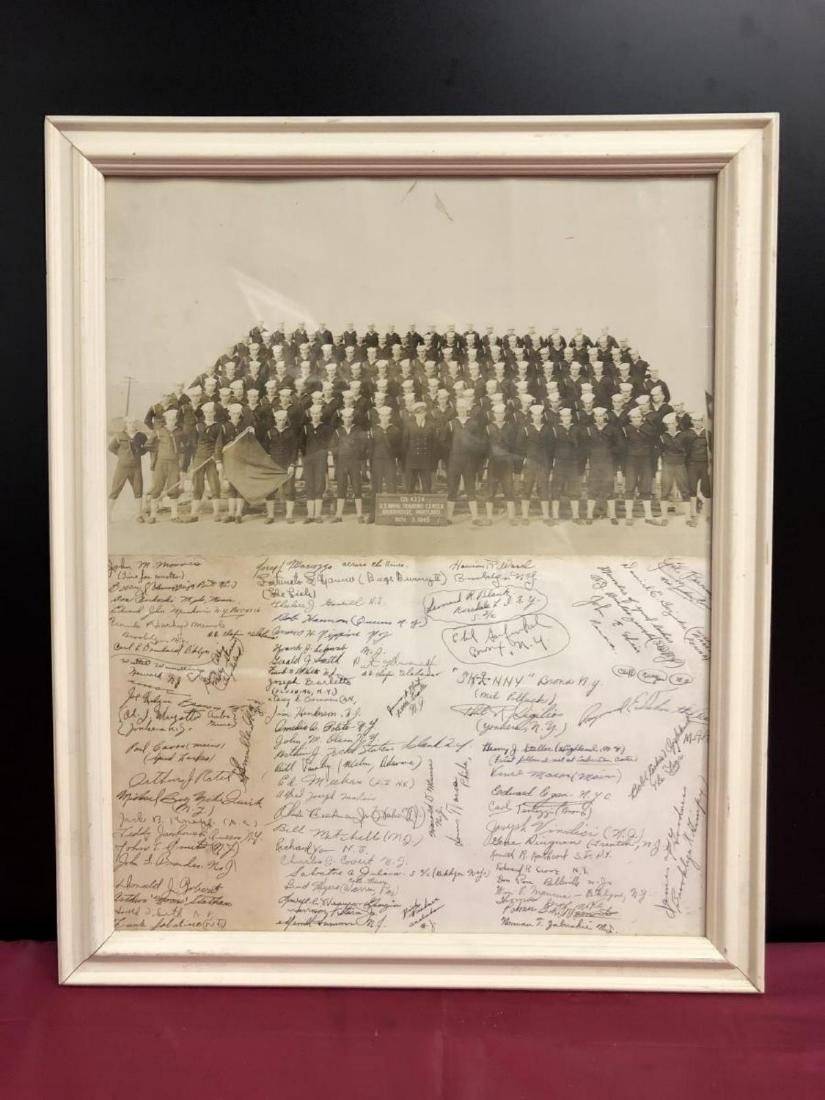 Photo Print w Ink Autographs from Naval Class 1945