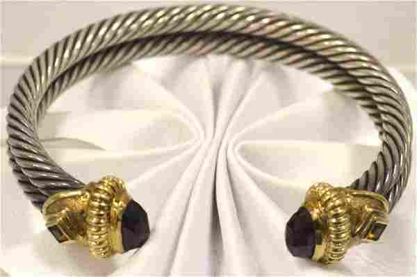 David Yurman 14kt and sterling cuff bracelet