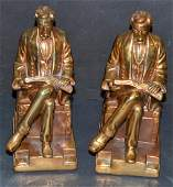 BronzeClad Abe Lincoln Bookends by Marion Bronze
