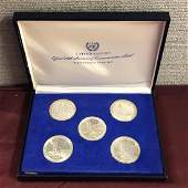 United Nations Official Sterling Silver Medal Set