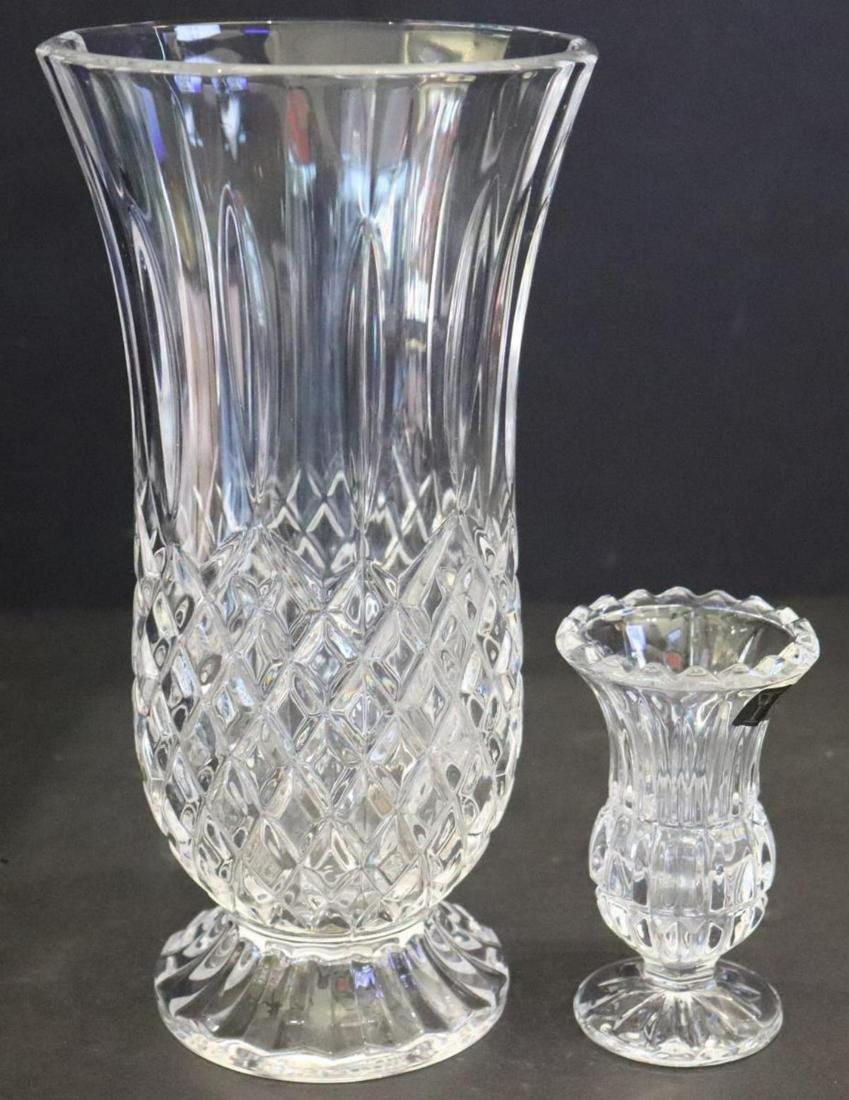 """2 Leaded Crystal Vases"""" 4 1/2"""" & 10"""""""