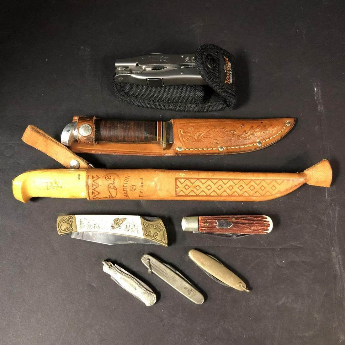 Lot of Vintage Knives, Pocket Knives and Bucktool