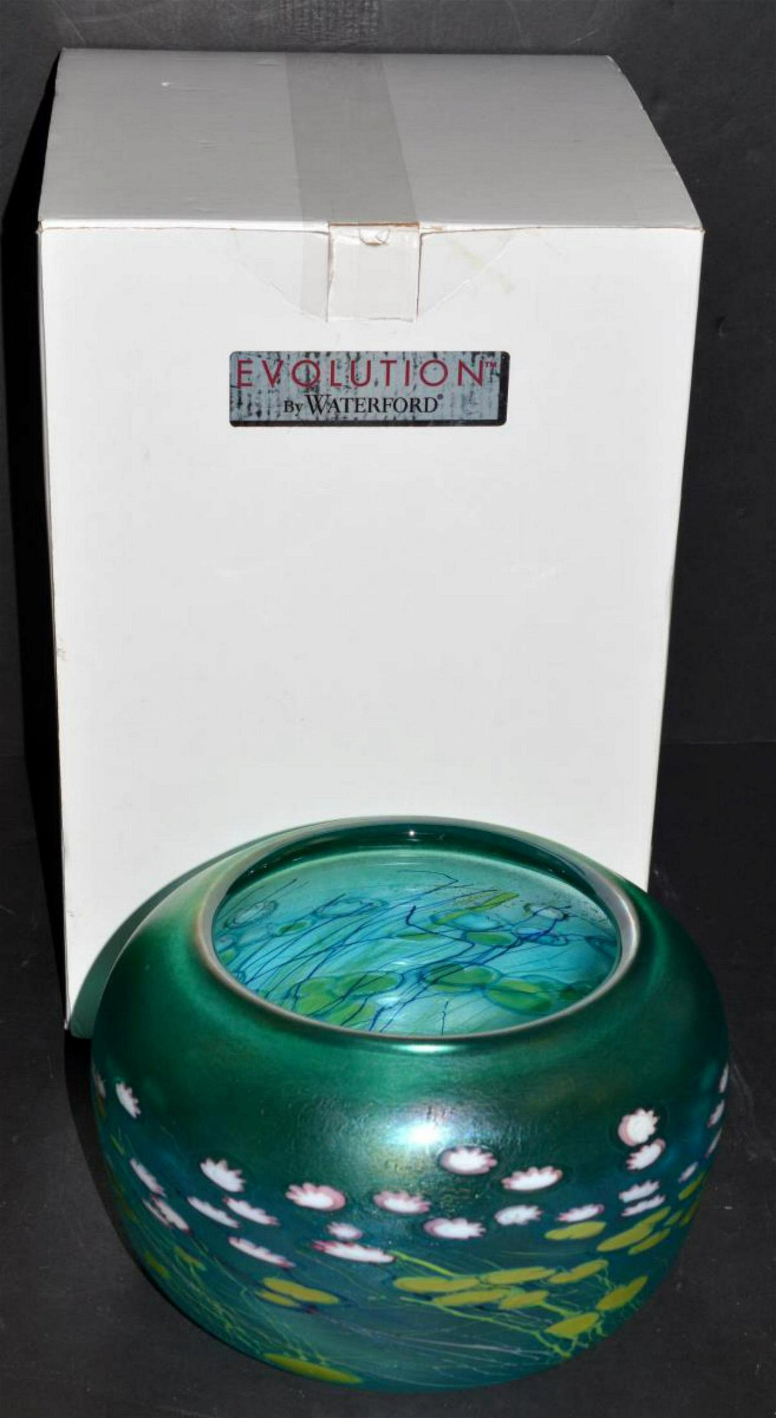 "Evolution by Waterford Waterlily 9"" Bowl in Box"