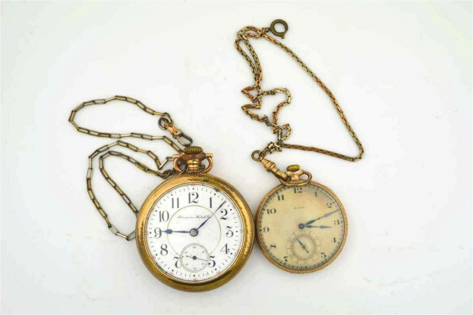 Pair of gold filled pocket watches