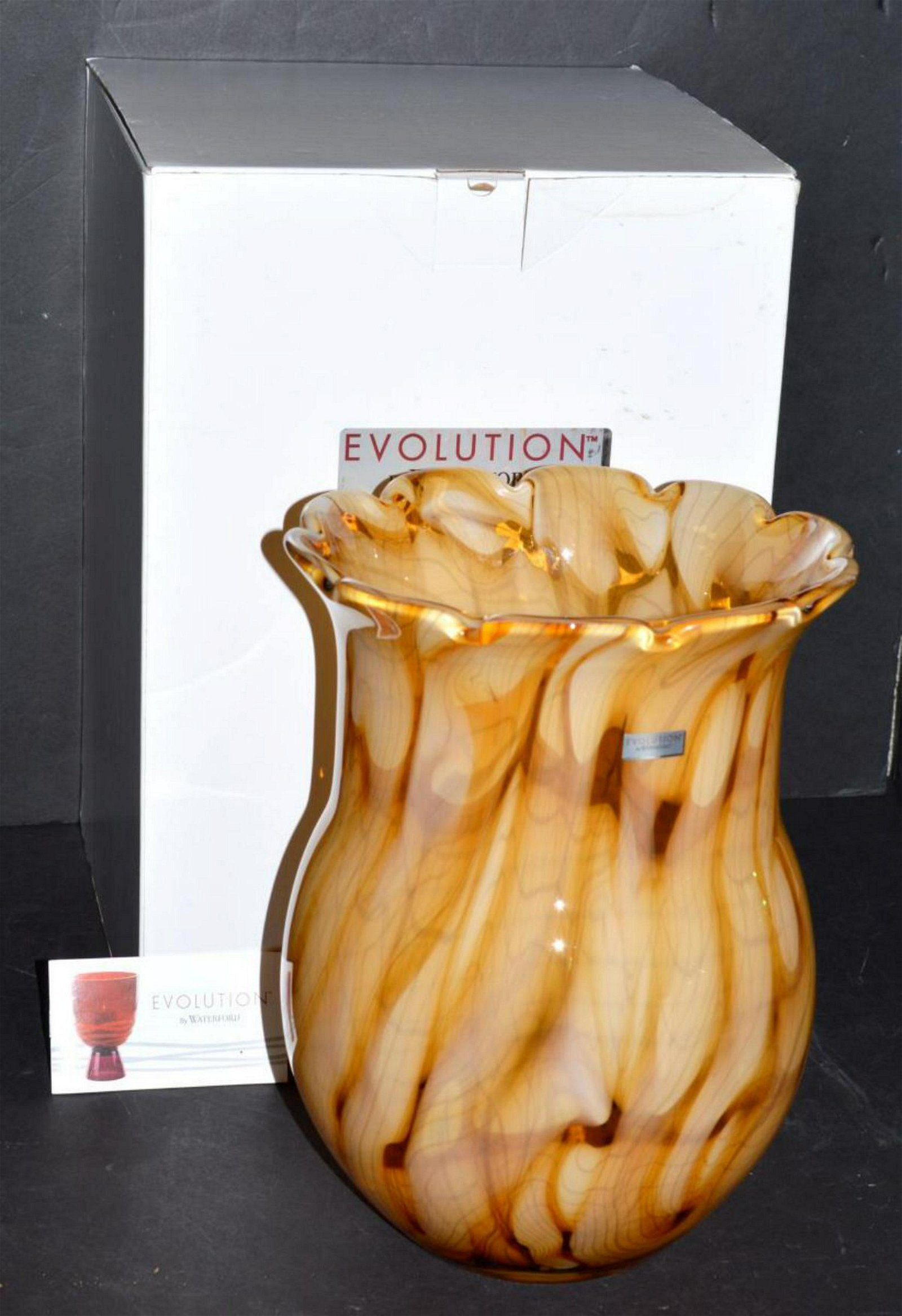 "Evolution by Waterford Savannah Hurricane 11"" Vase"