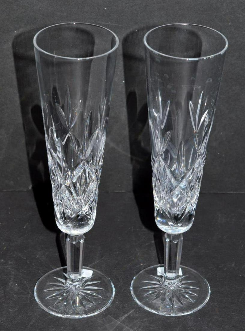 Pair of Tiffany & Co. Sybil Champagne Flutes