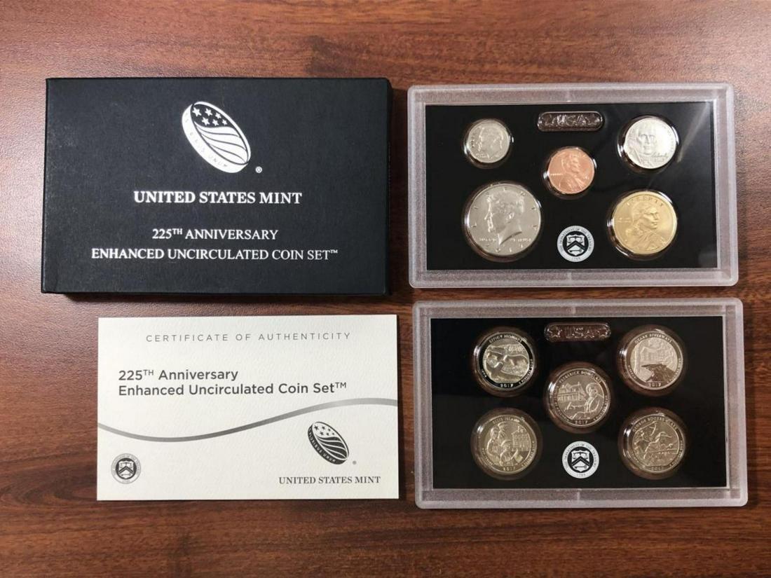2017 US Mint 225th Anniv. Enhanced Coin Set