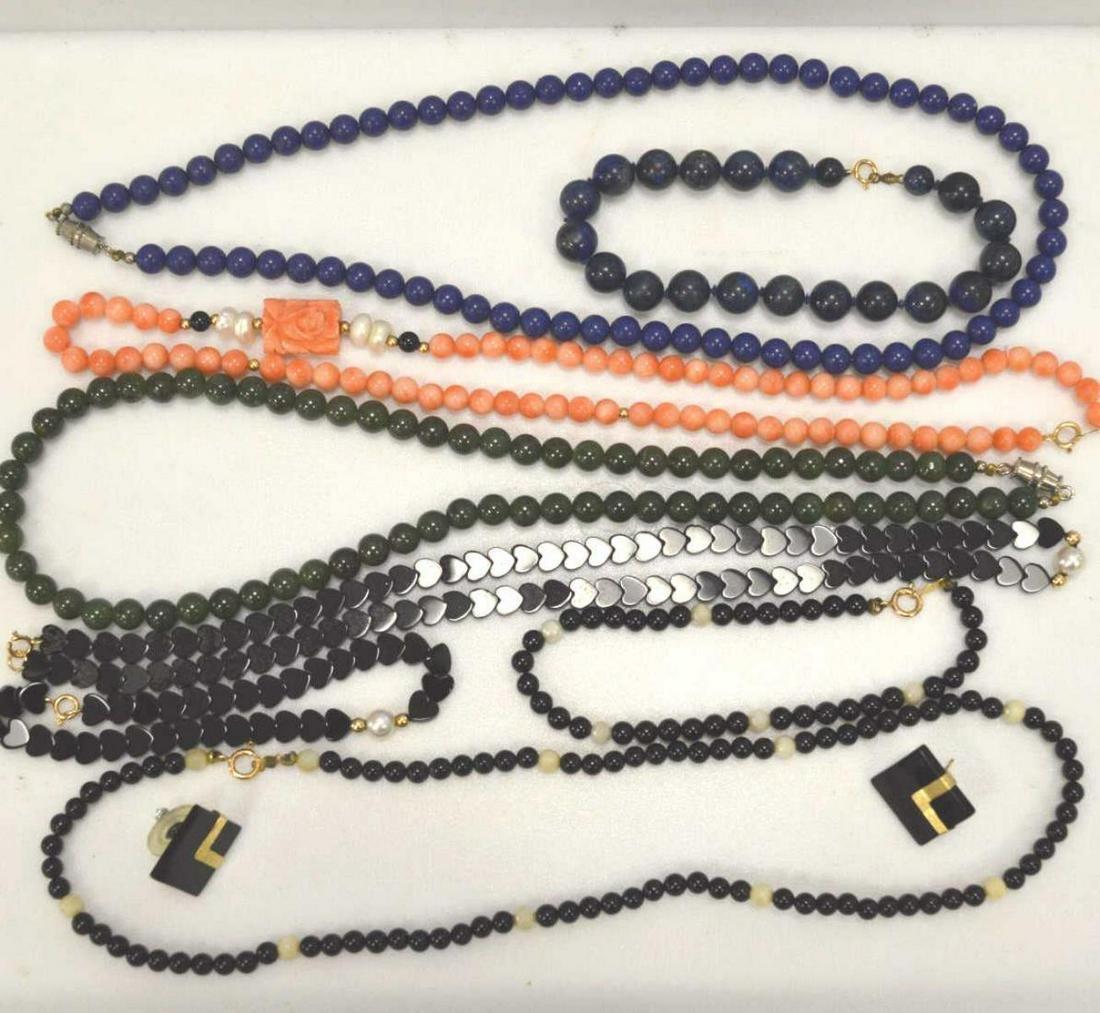 Lot of stone bead jewelry