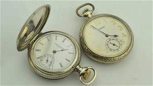 Pair of Elgin pocket watches