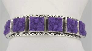 Silver plated druzy agate bracelet