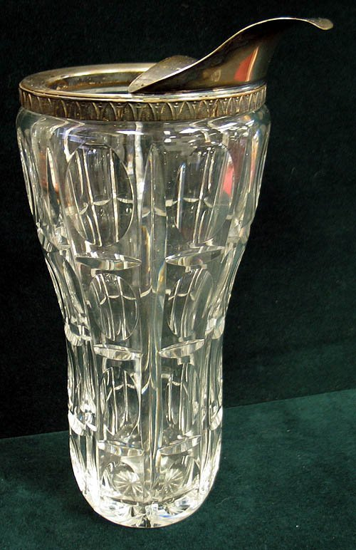 8: Vintage cut crystal martini pitcher