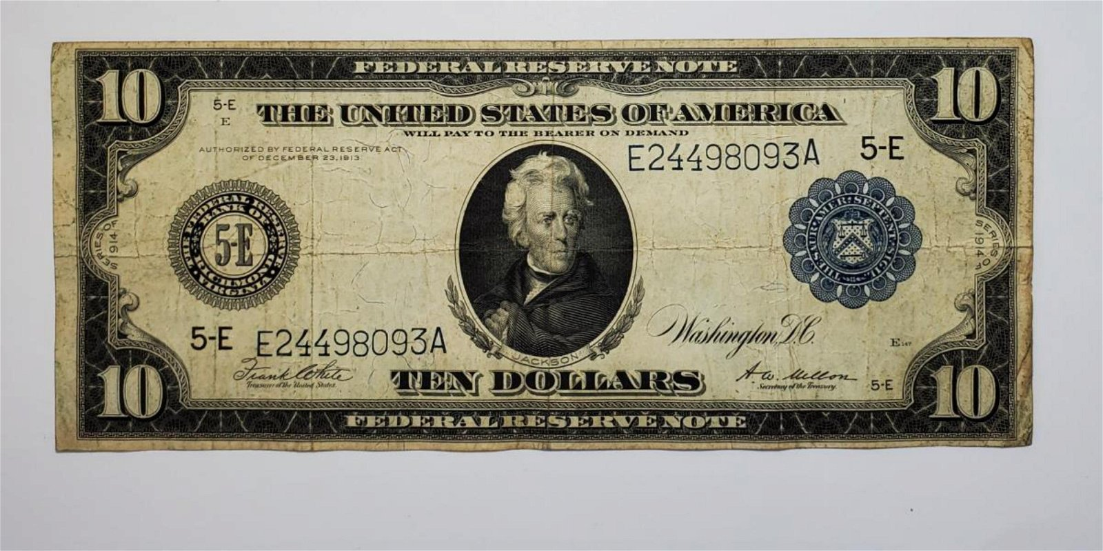 1918 $1 National Currency FRB Boston VG