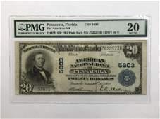 1902 $20 National Pensacola FL Ch#5603 PMG VF20