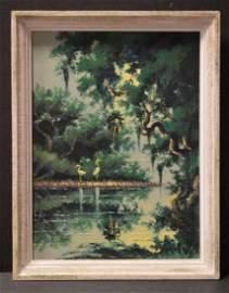 Highwaymen Al Black Oil on Board Original Painting