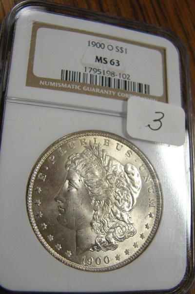 1003: 1900-O Morgan Silver Dollar NGC MS63