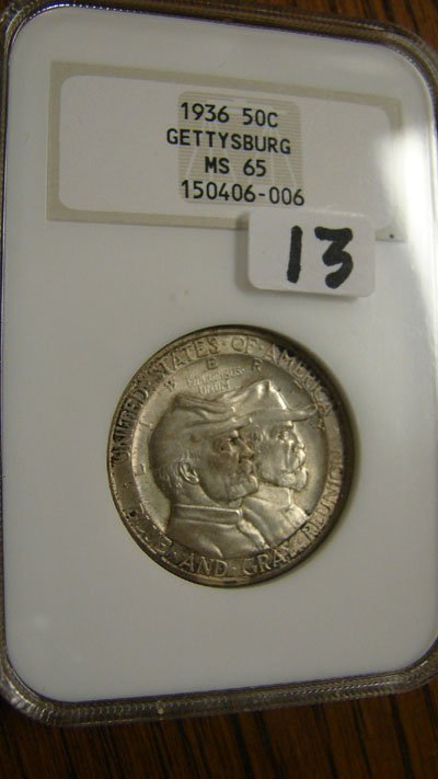 1013: 1936 Gettysburg Commemorative half dollar. NGC MS