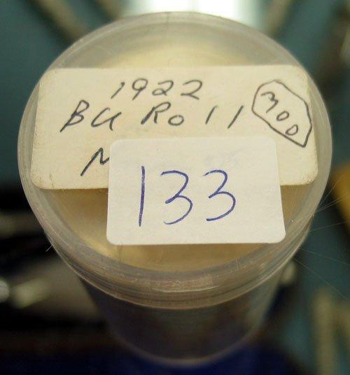 1133: 1922 Peace Silver Dollar 20pc roll Original BU