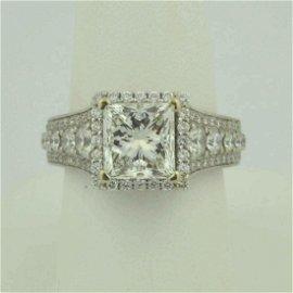 14kt diamond engagement ring 3.01ct, G/ VS1 GIA