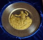 John Adams Commemorative Sterling Silver Plate 74'