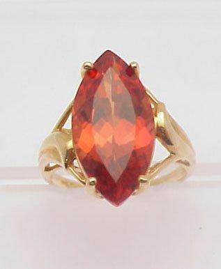 2003: Orange stone ring 14 kt