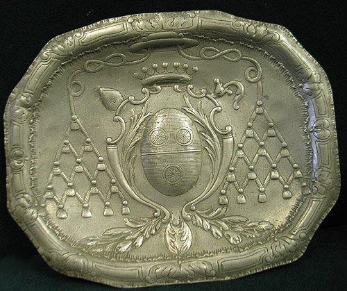 2005: Pewter presentation plate mid 18thC
