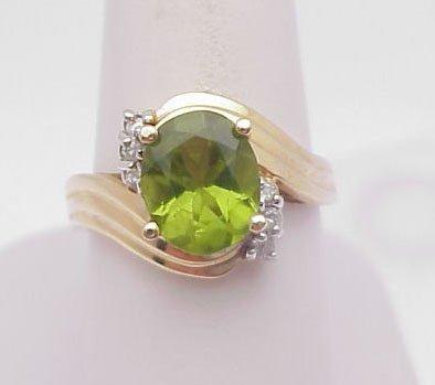 2009: Peridot ring with diamonds