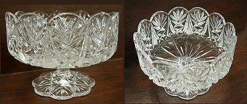 2011: Arcadia cut & pressed footed bowl