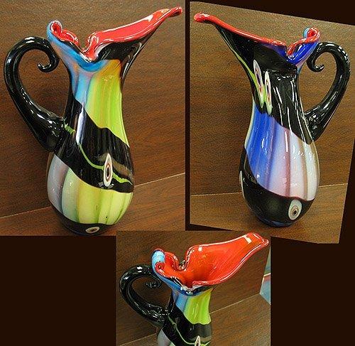 2024: Artglass hand blown pitcher