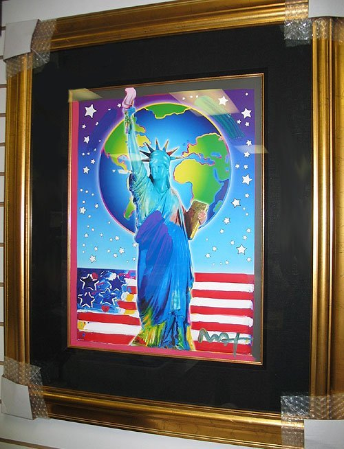 2080: Peter Max, Peace on Earth II, signed