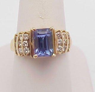 2145: Tanzanite & diamond ring