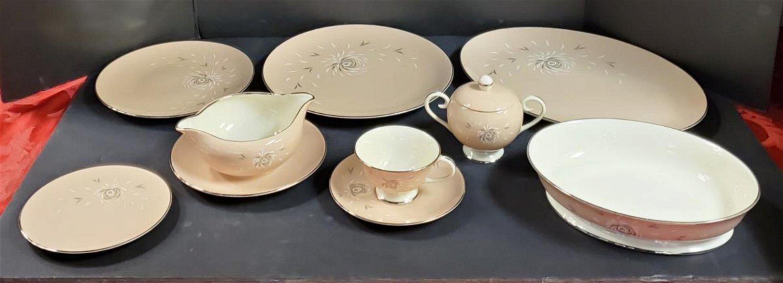 Large Set of Flintridge China Daybreak Tan Pattern