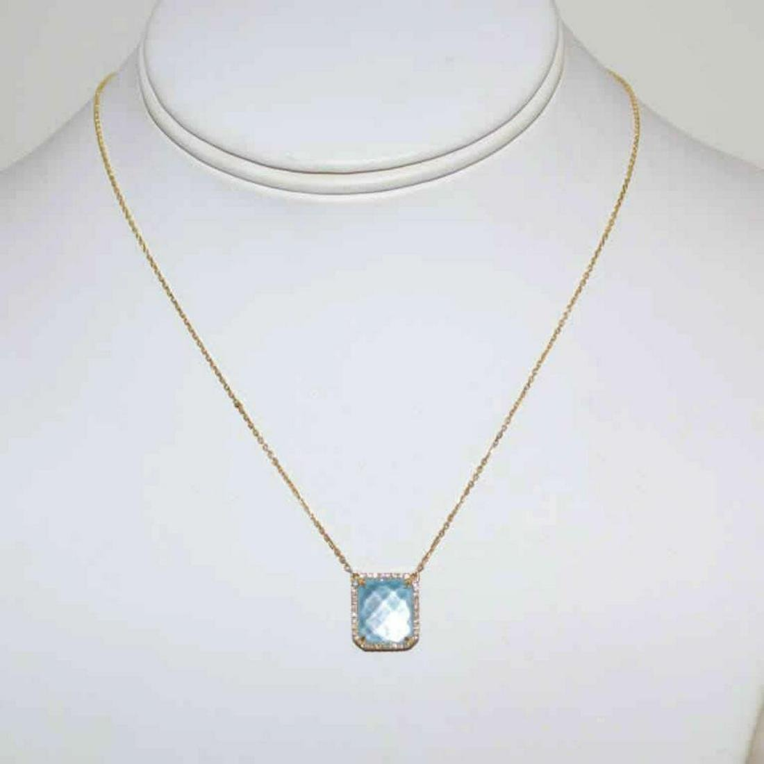 18kt yellow gold turquoise necklace by Doves