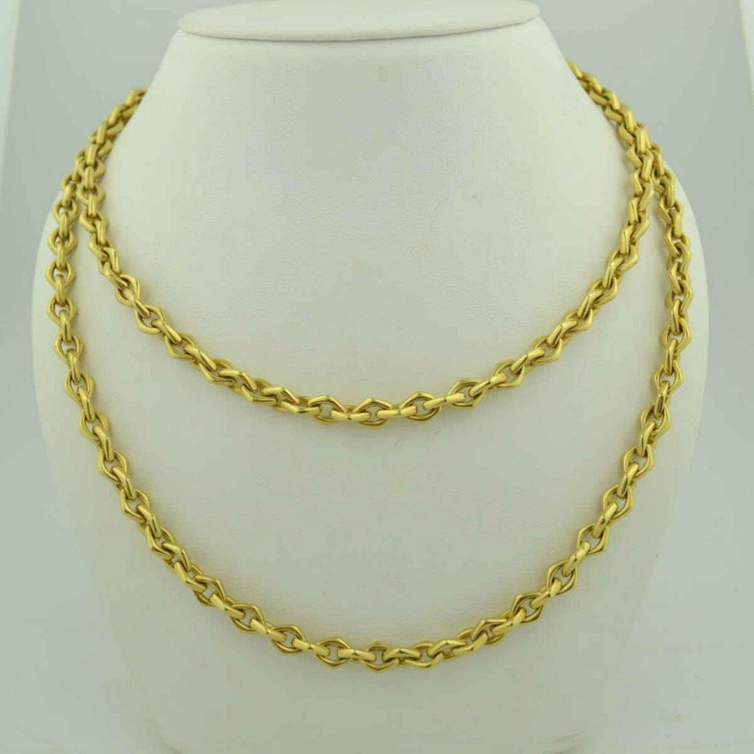 18kt yellow gold Tiffany fancy link chain