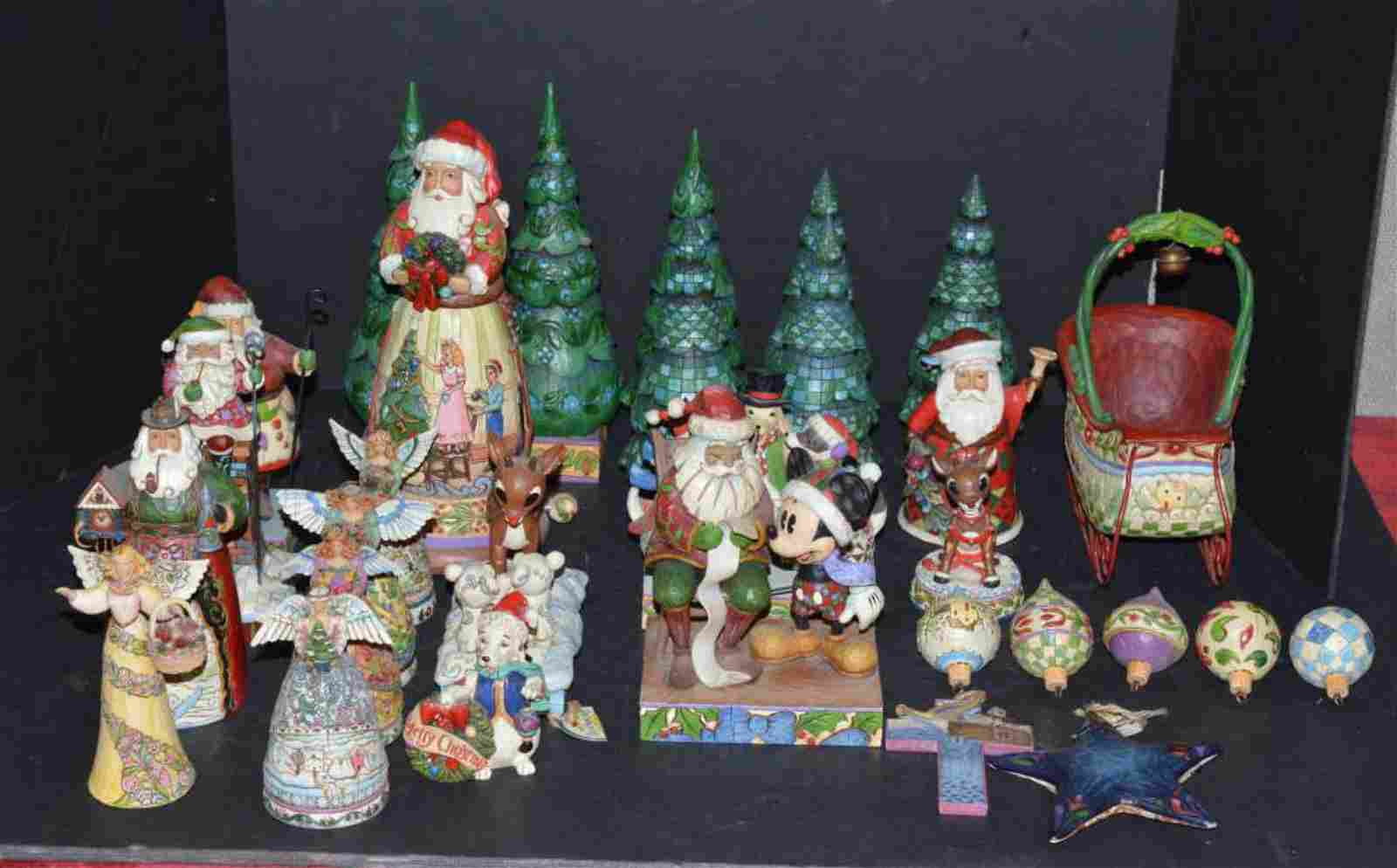 Lot of Over 25 Jim Shore Christmas Statues