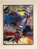 Al Oerter Original Oil on Canvas Large Abstract