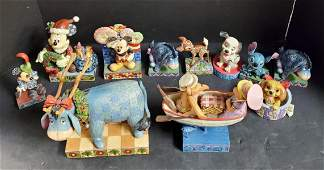 Lot of 11 Jim Shore Statues, Mostly Disney