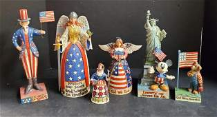 Lot of 6 Jim Shore Fourth of July Statues