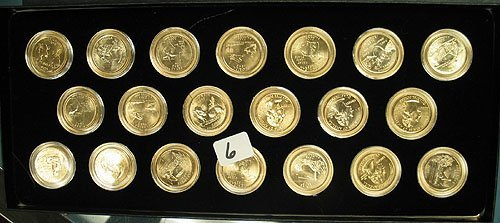 6: 1999-2004 State Quarter 60 Coin Set Layered in 24 Kt