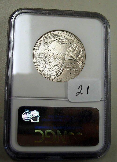 21: 2008-S Bald Eagle Commemorative Uncirculated Half D