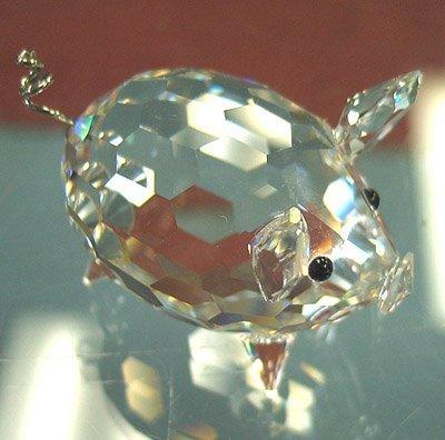 3019: Swarovski crystal pig #7673
